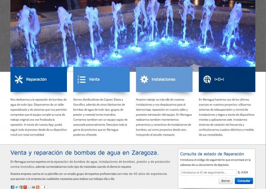 Nueva web corporativa Remagua 2013