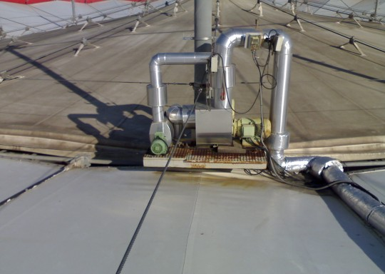 Detalle del sistema de bombeo anterior